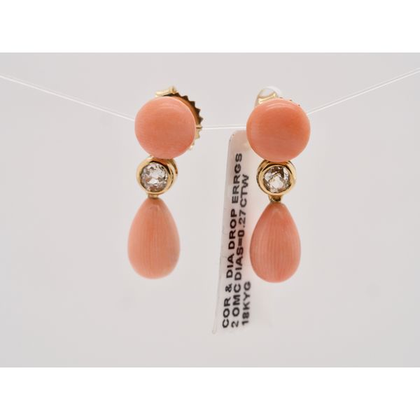 Coral & Diamond Drops  Portsches Fine Jewelry Boise, ID