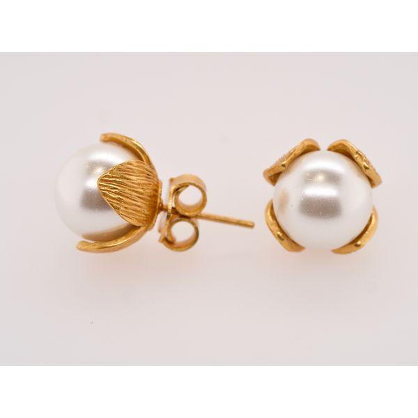 Penelope Pearl Studs  Portsches Fine Jewelry Boise, ID