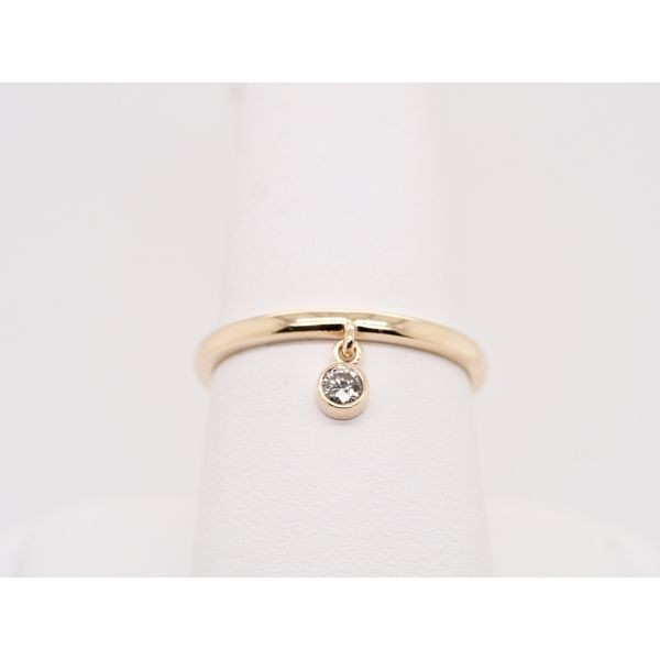 Diamond Bezel Dangle Ring  Portsches Fine Jewelry Boise, ID