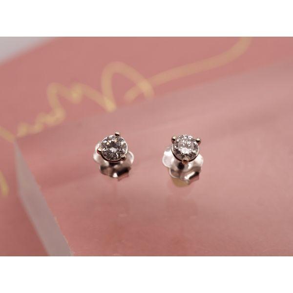 3 Prong Martini Set Diamond Studs  Portsches Fine Jewelry Boise, ID