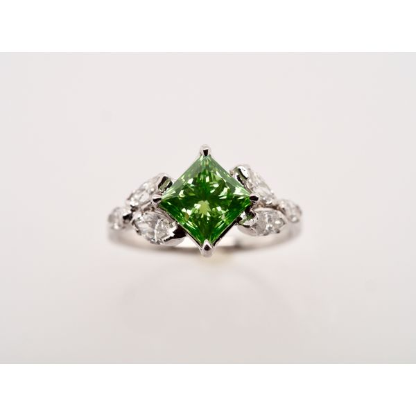Green Princess Cut Diamond Ring Portsches Fine Jewelry Boise, ID