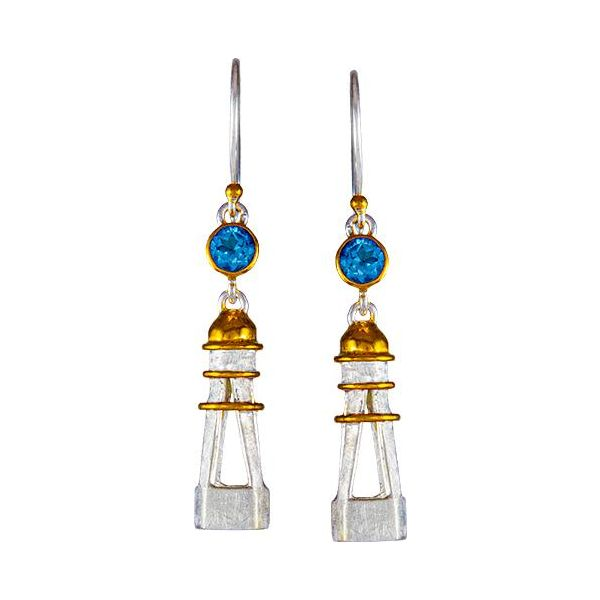 Blue Topaz Lighthouse Earrings Johnnys Lakeshore Jewelers South Haven, MI