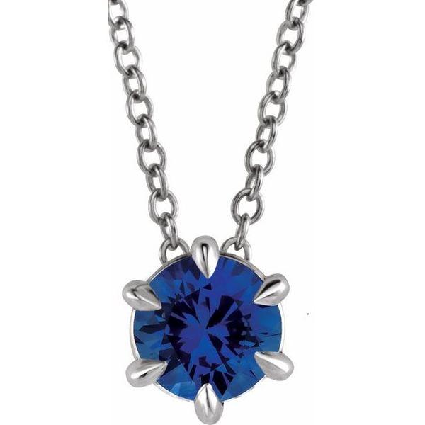 Sapphire Solitaire Pendant  Johnny's Lakeshore Jewelers South Haven, MI