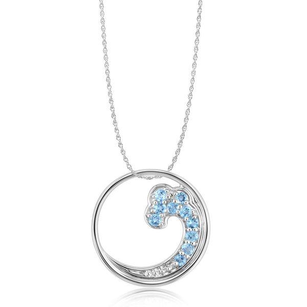 Blue Topaz Wave Pendant Johnny's Lakeshore Jewelers South Haven, MI