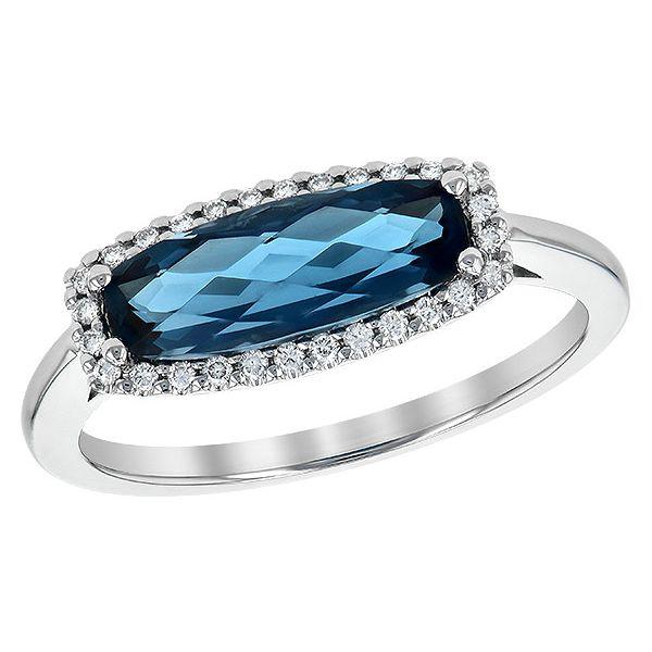 Blue Topaz and Diamond Ring Johnnys Lakeshore Jewelers South Haven, MI