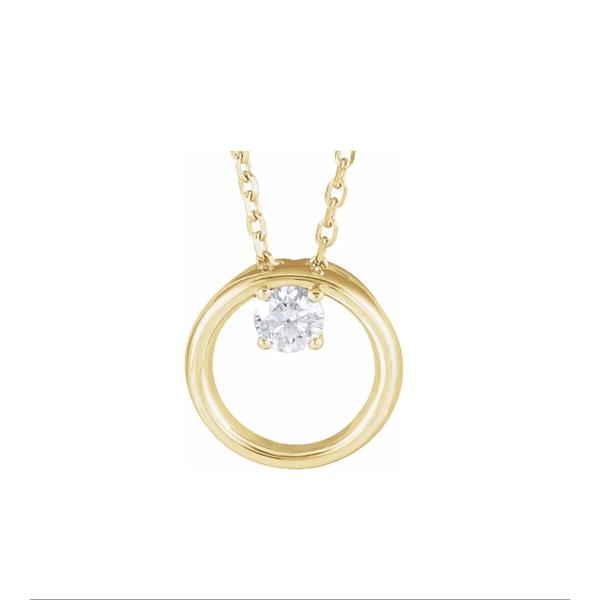 Circle with Diamond Pendant Johnnys Lakeshore Jewelers South Haven, MI