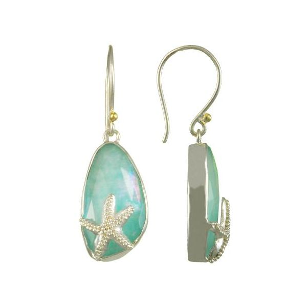 Amozonite Starfish Earrings Johnny's Lakeshore Jewelers South Haven, MI