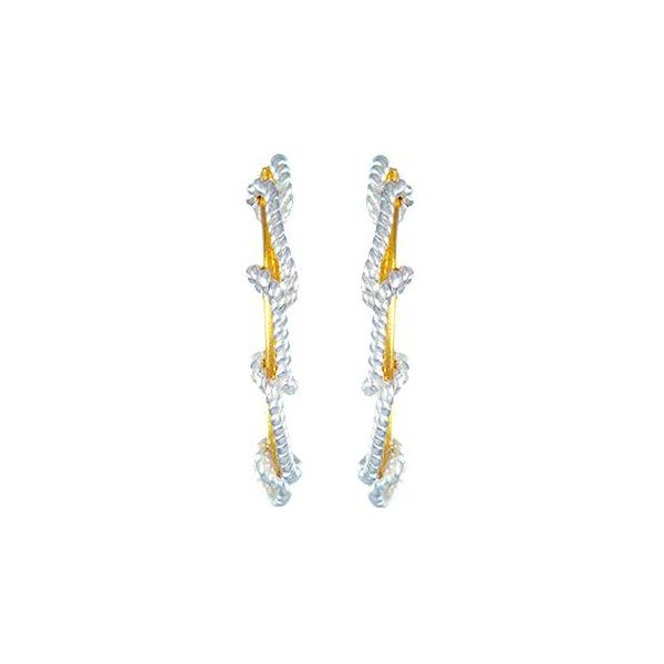 Two Tone Rope Earrings Johnnys Lakeshore Jewelers South Haven, MI