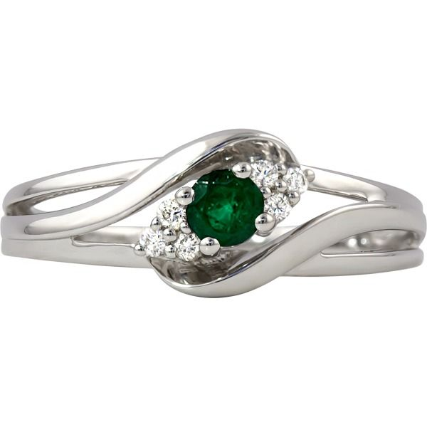 Emerald and Diamond Ring Johnny's Lakeshore Jewelers South Haven, MI