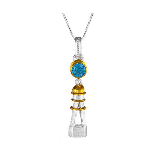Blue Topaz Lighthouse Pendant Johnny's Lakeshore Jewelers South Haven, MI