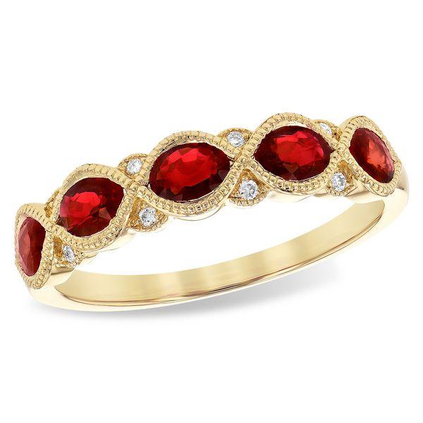 Ruby and Diamond Anniversary  Johnnys Lakeshore Jewelers South Haven, MI