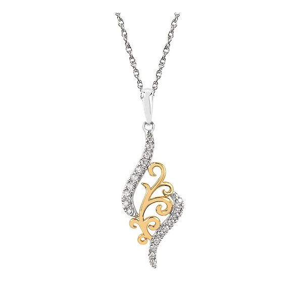 Two Tone Diamond Pendant Johnnys Lakeshore Jewelers South Haven, MI