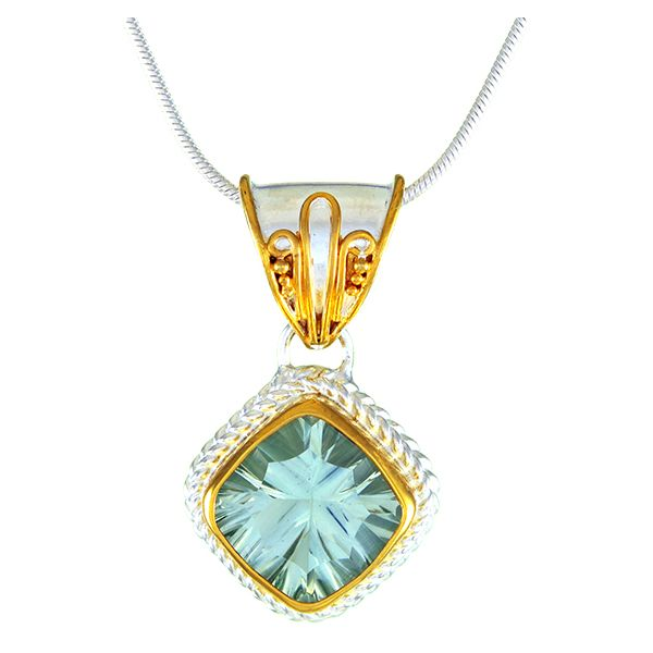 Green Amethyst Silver Pendant Johnny's Lakeshore Jewelers South Haven, MI