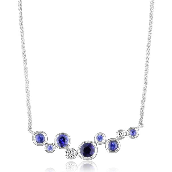 Sapphire Bar Necklace Johnnys Lakeshore Jewelers South Haven, MI
