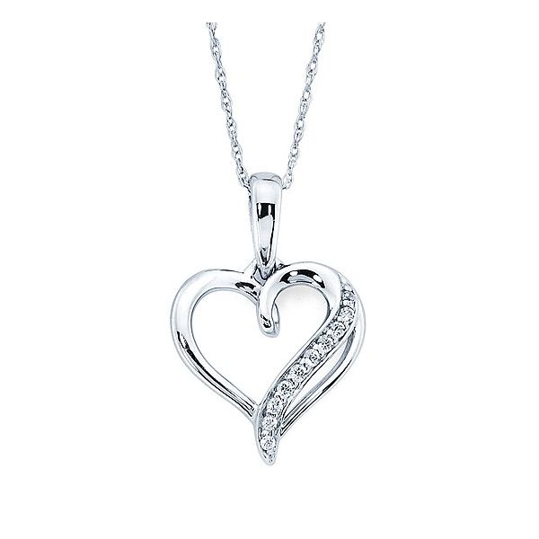 Silver and Diamond Heart Pendant Johnnys Lakeshore Jewelers South Haven, MI