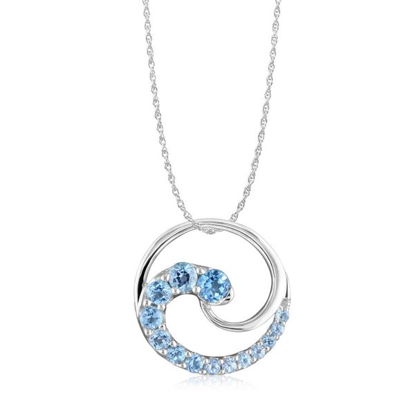 Blue Topaz Wave Pendant Johnny's Lakeshore Jewelers South Haven, MI