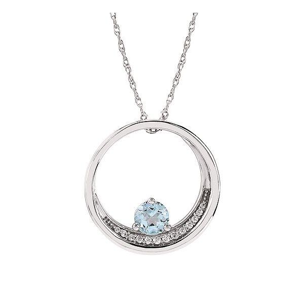 Silver Aquamarine Pendant Johnnys Lakeshore Jewelers South Haven, MI