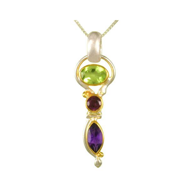 Peridot, Garnet, and Amethyst Pendant  Johnnys Lakeshore Jewelers South Haven, MI