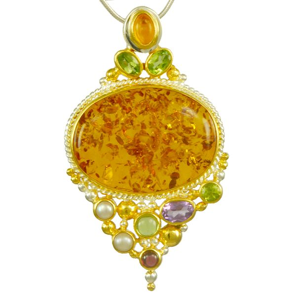 Amber Pendant Johnnys Lakeshore Jewelers South Haven, MI