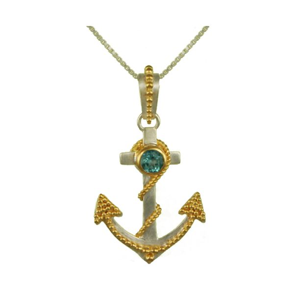 Two Tone Anchor Pendant Johnny's Lakeshore Jewelers South Haven, MI