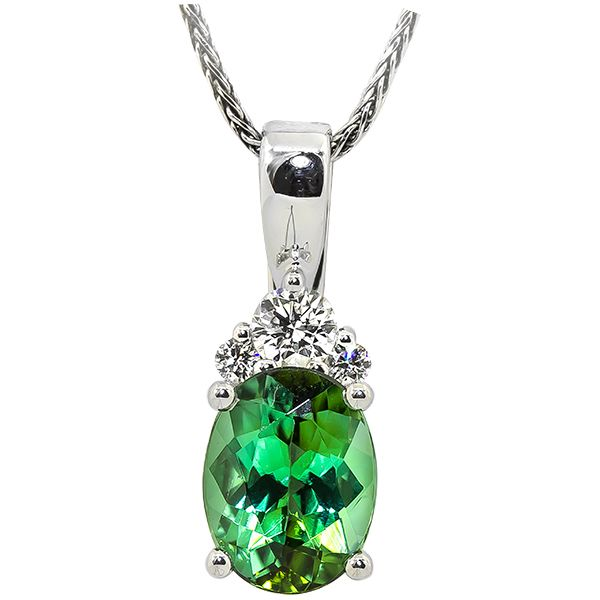 Green Tourmaline Pendant  Johnnys Lakeshore Jewelers South Haven, MI