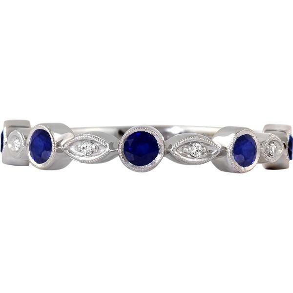 Sapphire and Diamond Band Johnnys Lakeshore Jewelers South Haven, MI