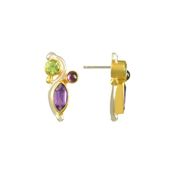 Peridot, Garnet, and Amethyst Earrings  Johnnys Lakeshore Jewelers South Haven, MI