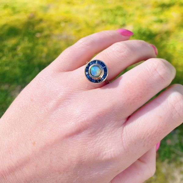 Vintage Sapphire and Opal Ring Image 4 Joint Venture Jewelry Cary, NC