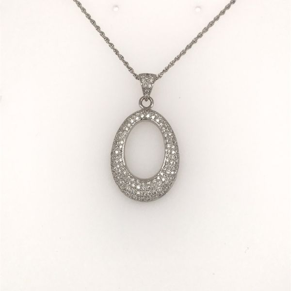14K White Gold Diamond Necklace JWR Jewelers Athens, GA