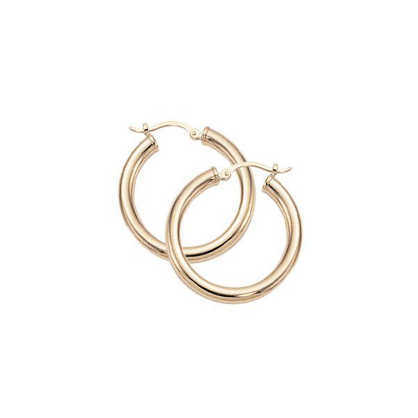 14-Karat Yellow Gold Gold Hoop Earrings JWR Jewelers Athens, GA