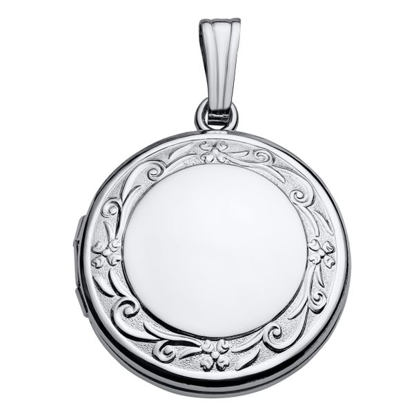 Sterling Silver Round Locket JWR Jewelers Athens, GA