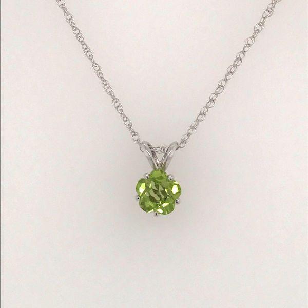 14K White Gold Peridot Necklace JWR Jewelers Athens, GA