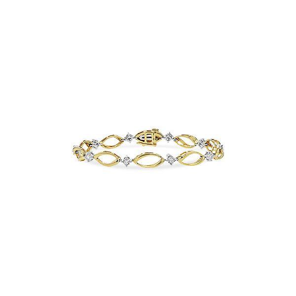 14K Two-Tone Diamond Bracelet JWR Jewelers Athens, GA