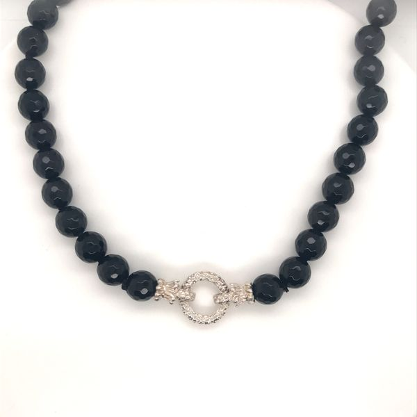 Vahan Faceted Onyx Bead Necklace JWR Jewelers Athens, GA