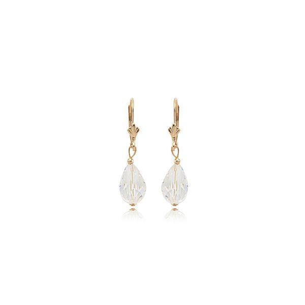 14-Karat Gold Dangle Earrings with Colored Stone JWR Jewelers Athens, GA