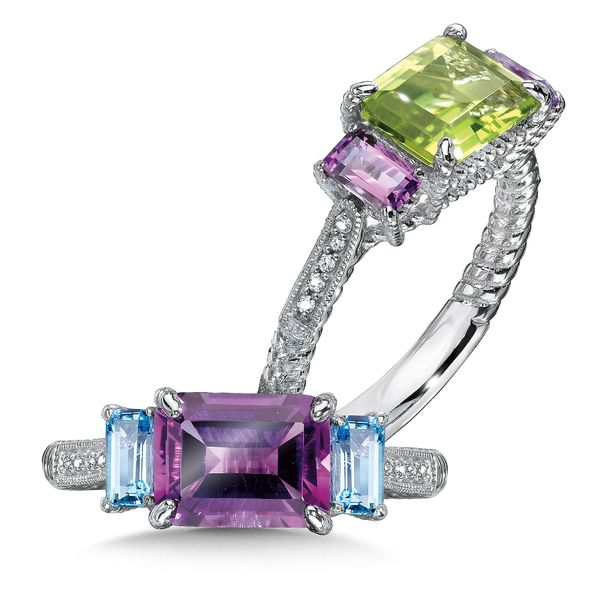 Sterling Silver Amethyst and Blue Topaz Ring JWR Jewelers Athens, GA