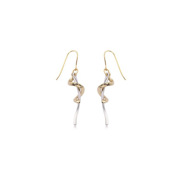 14-Karat Two Tone Dangle Earrings JWR Jewelers Athens, GA
