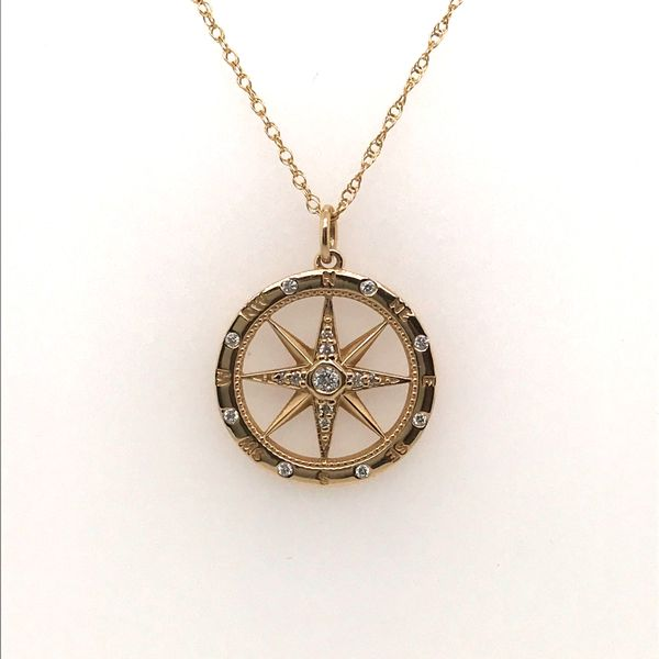 14K Yellow Gold Diamond Necklace JWR Jewelers Athens, GA