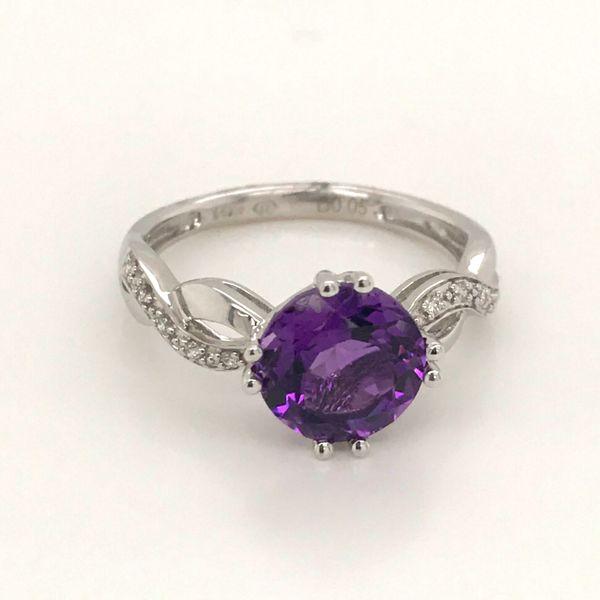 14K White Gold Amethyst Ring JWR Jewelers Athens, GA
