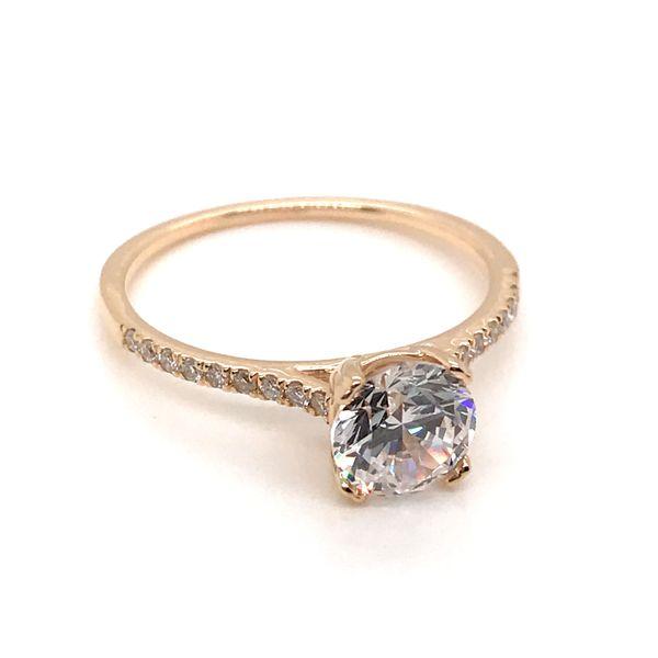 14K Yellow Gold Semi-Mount Engagement Ring JWR Jewelers Athens, GA