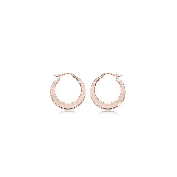 14-Karat Rose Gold Hoop Earrings JWR Jewelers Athens, GA