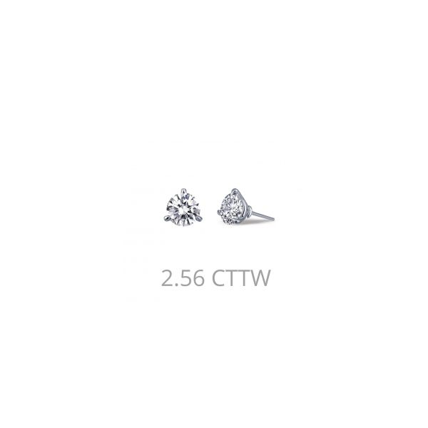 Lafonn Sterling Silver bonded in Platinum 2.56 twt. Martini Set Lassaire Earring Studs JWR Jewelers Athens, GA