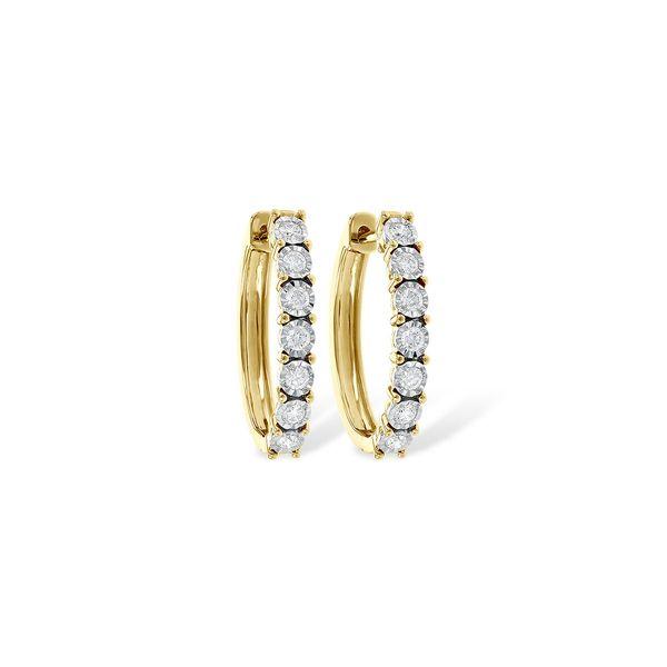 Diamond Hinged Hoop Earrings JWR Jewelers Athens, GA