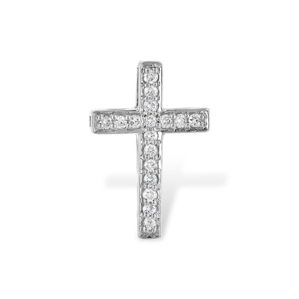 14K White Gold Diamond Cross Pendant JWR Jewelers Athens, GA