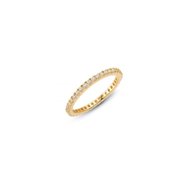 Lafonn Yellow Plated Silver 0.57 twt  Lassaire Stone Eternity Band JWR Jewelers Athens, GA