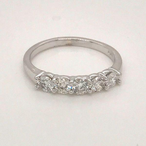 14-Karat White Gold Diamond Wedding/Anniversary Band JWR Jewelers Athens, GA