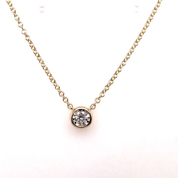 14K Yellow Gold Diamond Necklace JWR Jewelers Athens, GA