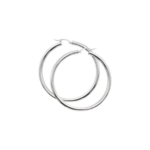 Sterling Silver Hoop Earrings JWR Jewelers Athens, GA