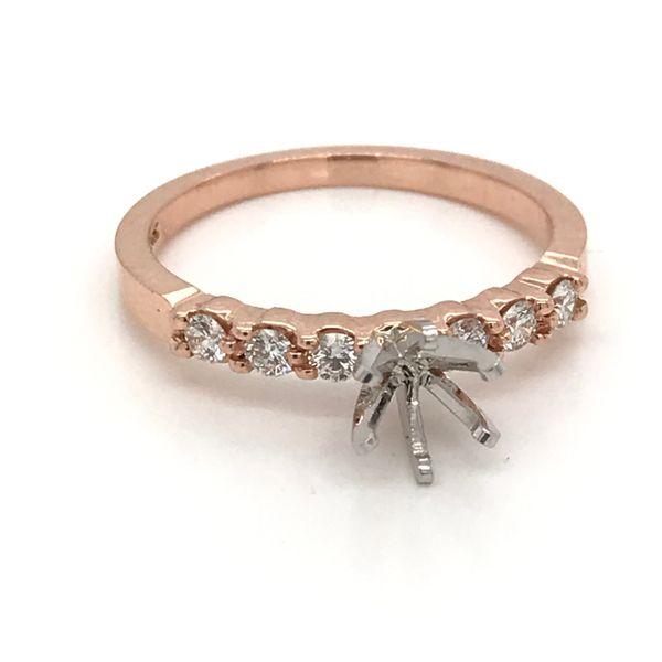 14K Rose Gold Semi-Mount Engagement Ring JWR Jewelers Athens, GA