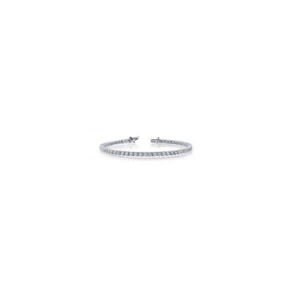 Lafonn Platinum Bonded Sterling Silver  2.51 twt  Lassaire Stone Tennis Bracelet JWR Jewelers Athens, GA